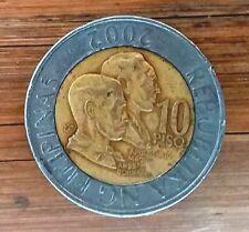 Philippines 10 piso coin ERROR  - 2002 - date Upside down