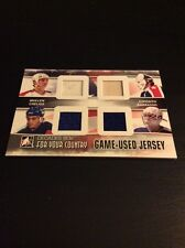 2010-11 ITG Decades 80's For Your Country Mullen Chelios Esposito Quad Jersey!