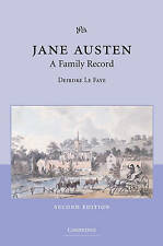 Jane Austen: A Family Record, Good Condition Book, Le Faye, Deirdre, ISBN 978052