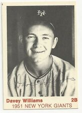 Autographed Signed 1975 TCMA Davey Williams New York Giants Deceased in 2009