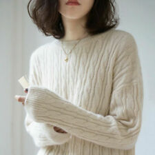 Women's Cashmere Pullover Winter Sweater Long Sleeve Slim Knitted Sweater
