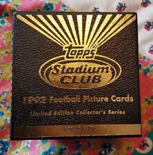 Topps Stadium Club 1992 Football Picture Cards Limited Edition Collectors Series