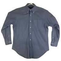 Mens 15.5 32/33 Polo Ralph Lauren Button Down Shirt Long Sleeve Blue Non-Iron