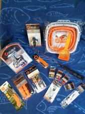 Ice Fishing, rod and reel combo, jigs, cleats, safety kit, and more!