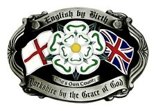 English Patriot Belt Buckle British St George Cross Union Flag Yorkshire Rose