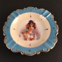 "Carlsbad Fine Porcelain ashtray Made in Bohemia 4.5"""