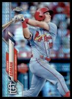 2020 Topps Chrome Base Prizm Refractor #94 Tommy Edman - St. Louis Cardinals