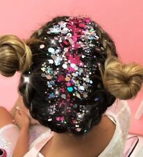10 HAIR GLITTER POTS FESTIVAL SPARKLY RAINBOW FACE BODY UNICORN MERMAID RAVE UNI