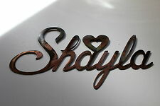 """Personalized custom Name in Cursive Style Font 5-7 letters 6"""" tall"""