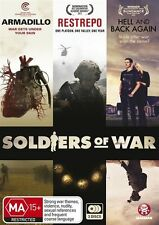 Soldiers Of War(DVD, 2013, 3-Disc Set)Armadillo + Restrepo + Hell and Back Again