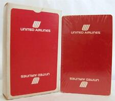 Playing Cards United Airlines Red Advertising Sealed Vintage