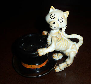 Boney Bunch Cat Tea Light Holder - 2012 Yankee Candle RETIRED