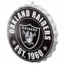 "Oakland Raiders Bottle Cap Sign - Est 1960 - Room Bar Decor NEW 13.5"""