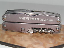 LEATHERMAN JUICE XE6 MULTI-TOOL GRAY VERY GOOD CONDITION  RETIRED USA MADE