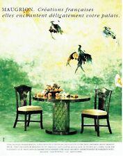 PUBLICITE ADVERTISING 017  1990  Meubles Maugrion salle à manger Boston rotin
