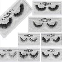 Fashion Real 3D Mink Soft Long Natural Makeup Eye Lashes Thick False Eyelash HOT