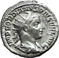 GORDIAN III 240AD Rome Authentic Genuine Ancient Silver Roman Coin SOL i59156