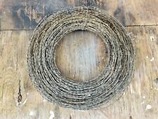 Antique Barbed Wire Roll Zinc Metal Western Decor Craft supplies Vintage Rustic