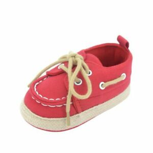 Baby Boy Girl Blue Sneakers Soft Bottom Crib Shoes Size Born To 18 Months