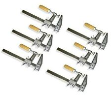 "Lot of 6: 18"" Inch BAR CLAMPS Heavy Duty Woodworking Wood Carpenter Tools"
