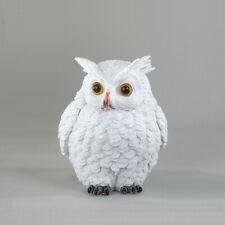 Eule 16 cm weiß Winterzeit Dekofigur Vogel Dekoration Tier 778994 formano