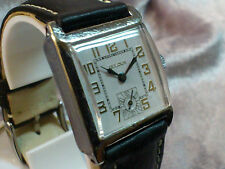 Bulova vintage manual wind watch 1929 10AN Square white dial Rare
