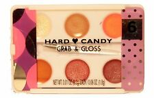 HARD CANDY 6 Color Palette GRAB & GLOSS Stocking Stuffer HOLIDAY w/Lip Brush NEW