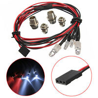 Style RC On-Road Car LED Night 5mm White And 3mm Red Headlamps 4 LED Light W8