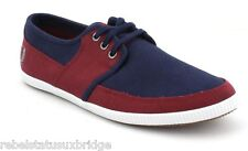FRED PERRY Shoes Unisex Trainers Tonic Canvas B4185 Red/Navy/White UK 6 - 12