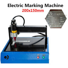 20x15cm Electronic Metal Marking Machine Engraving jewelry Steel ID Card Dog tag