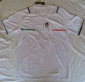 Italy Soccer Jersey / White/ Size LARGE