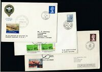ELEVEN GB Train covers all displaying Railway Letter Stamps or Label Mixed