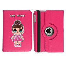LOL Doll 02 Name Personalised iPad 360 Rotating Case Cover Birthday Present Gift