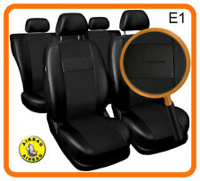 Car seat covers fit Skoda Fabia - full black leatherette/polyester