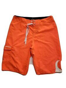 Quiksilver Men Casual Outdoor Cargo Board Short Size 29 Orange