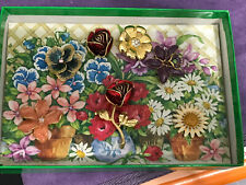 JOAN RIVERS CHANGEABLE FLOWER PIN Set Of 8 J87905. New In Box. Extras Pieces