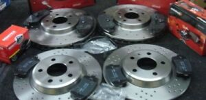 AUDI S5 TFSI QUATTRO SPORTBACK FRONT AND REAR BRAKE DISCS AND PADS DRILLED