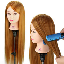 30'' Long Hair Practice Training Head Mannequin Hairdressing Doll With Clamp NEW