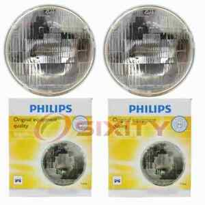 2 pc Philips High Low Beam Headlight Bulbs for AM General Hummer 1992-2001 ex