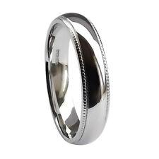 SALE NEW 5mm 9ct White Gold Court Wedding Ring Milled Edge 6.4g @ U USA (10 1/4)