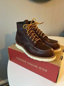Red Wing Shoes CLASSIC MOC TOE BOOTS 8138 UK8 Boxed