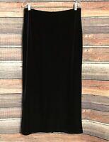 J.Jill Small Black Velvet Elastic Waist Maxi Skirt NWT