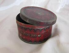 19C. Antique Judaica Bulgarian Empty Metal Tin Box For Sweets w/Star Of David