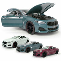 1:24 BMW M840i 2019 Coupe Model Car Diecast Toy Vehicle Sound Light Kids Gift