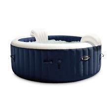 Intex 28431E PureSpa Plus 6 Person Portable Inflatable Hot Tub Jet Spa, Navy