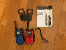 Cobra MicroTalk FRS 120 2-way Radio Walkie Talkie SET W/ BONUS FACEPLATES