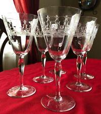 Vintage Crystal Goblets/Water Glasses (6)