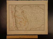 1844 BEAUTIFUL Huge Color MAP of INDIA Bombay Presidency Hydrabad Bijapur ATLAS