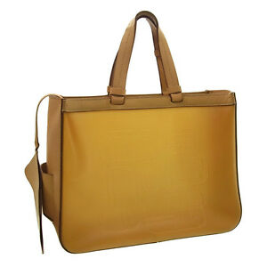 Sergio Rossi Tote bag Logo Beige Woman Authentic Used Y1170