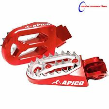 Apico Pro Morder Rojo Estriberas para Honda CR125 CR250 02-07 CRF250 CRF450 03-16